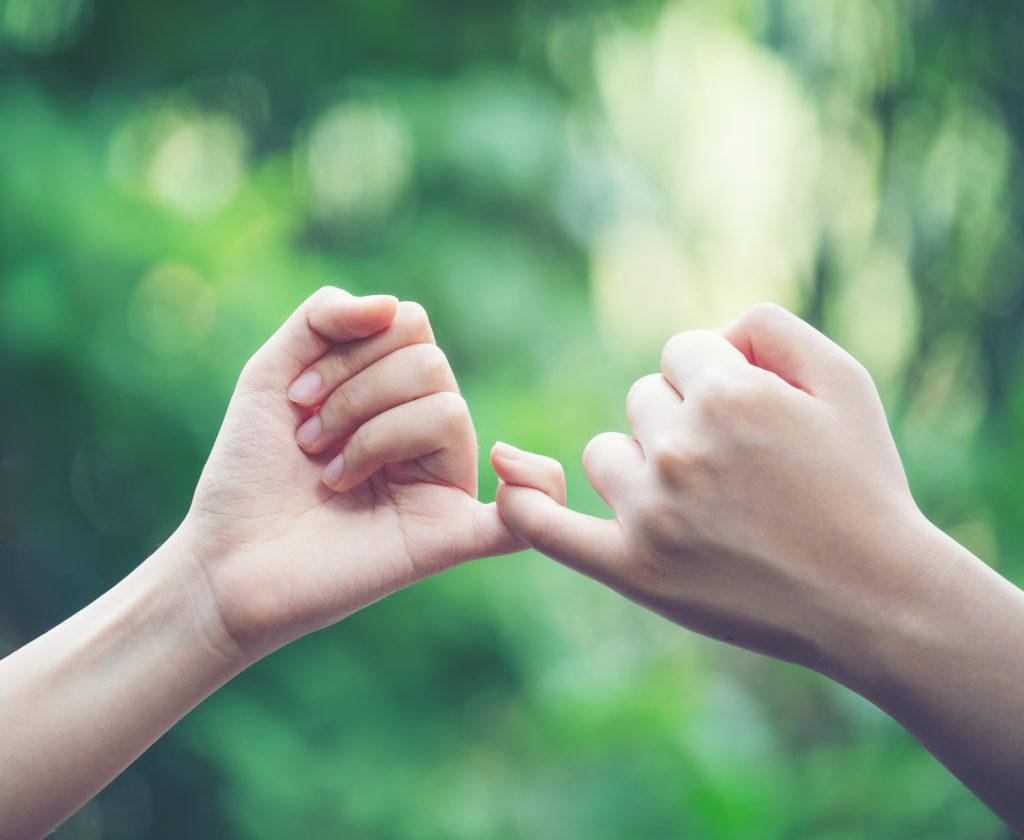 vänlig fingerkrok.